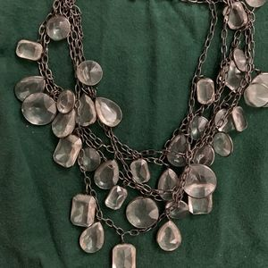 J. Crew multi-layer crystal statement necklace